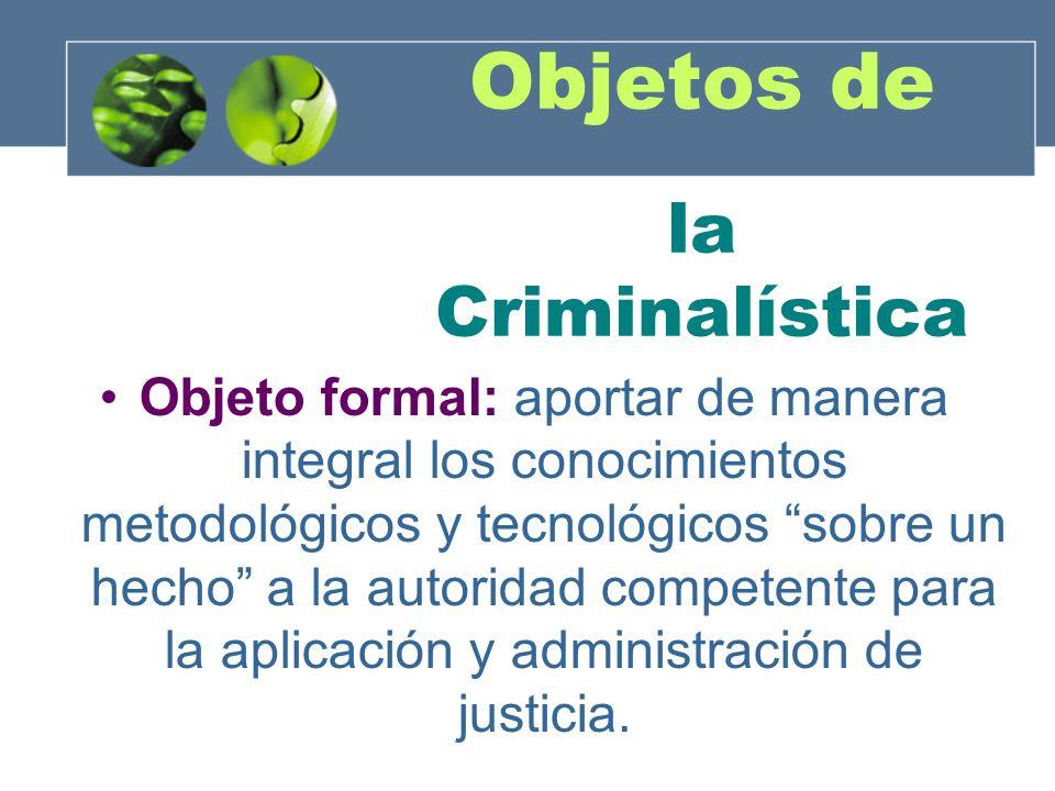 Objetos de la Criminalística