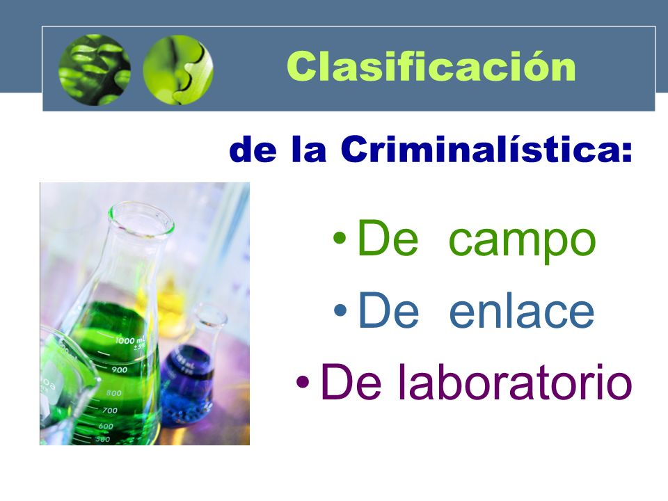 Clasificación de la Criminalística: