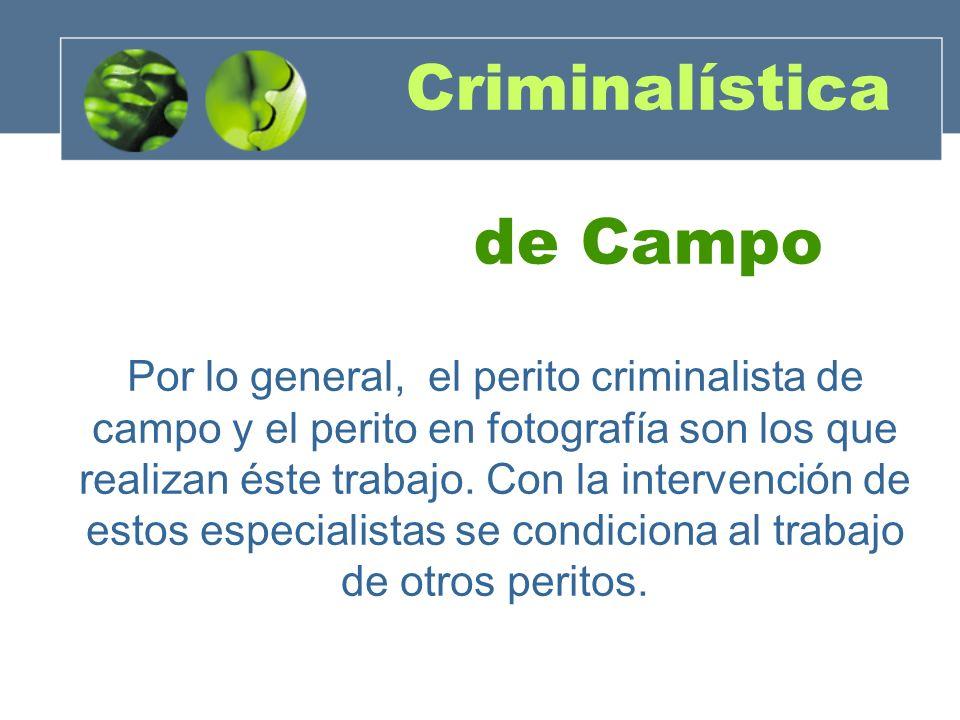 Criminalística de Campo
