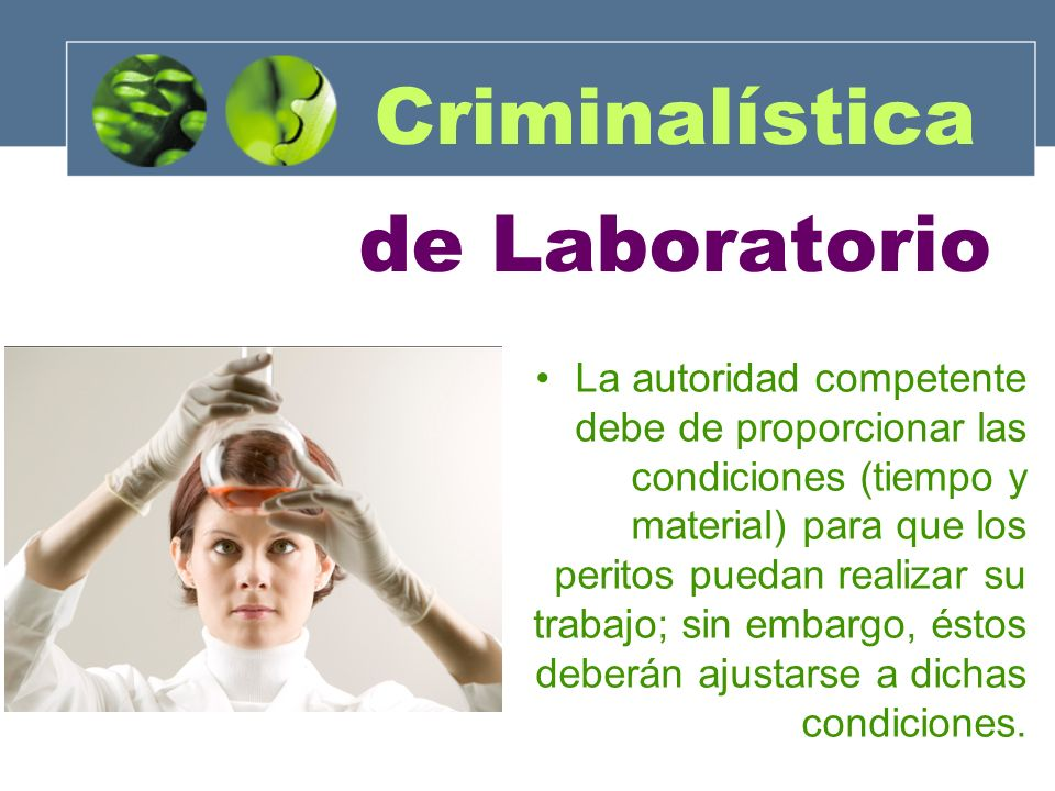 Criminalística de Laboratorio
