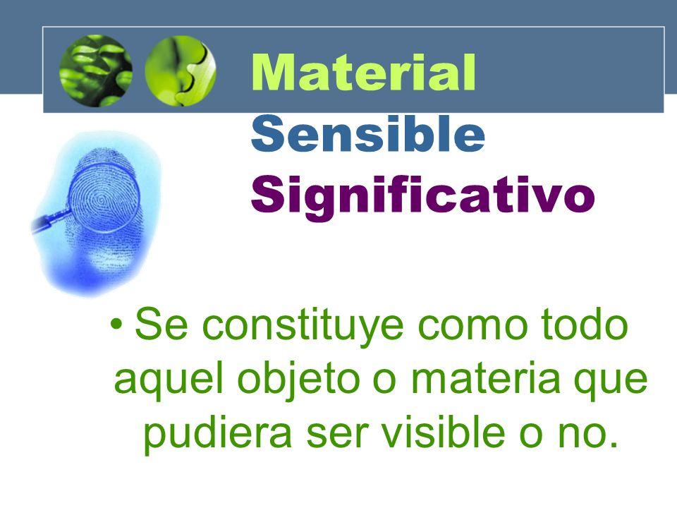 Material Sensible Significativo