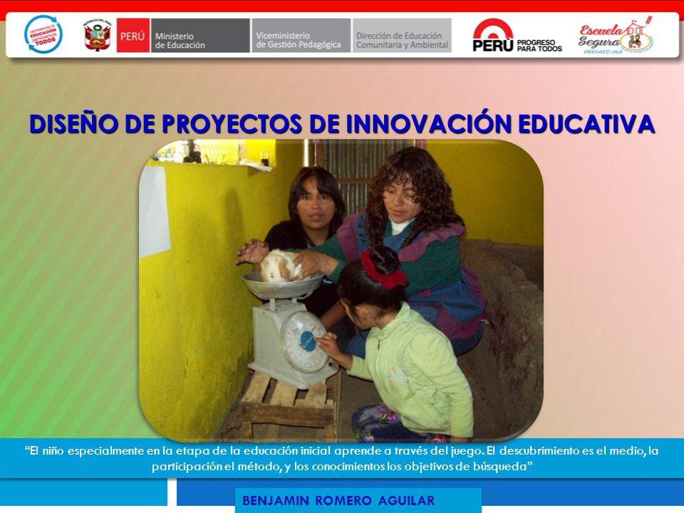 DISEÑO DE PROYECTOS DE INNOVACIÓN EDUCATIVA