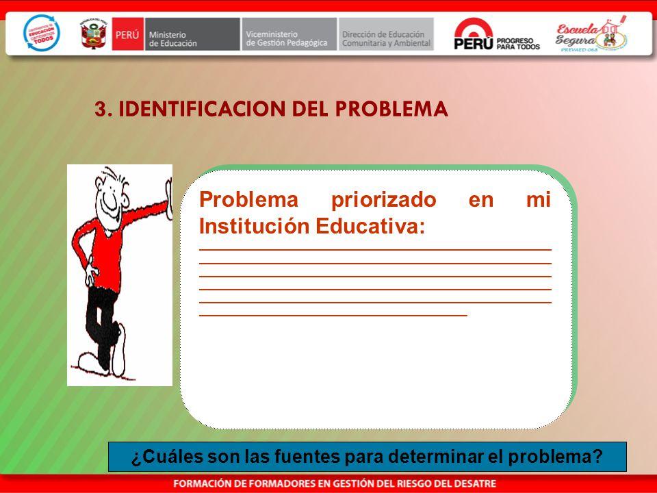 3. IDENTIFICACION DEL PROBLEMA
