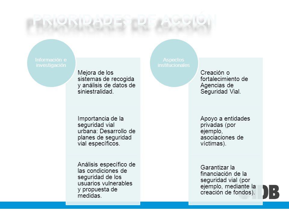 PRIORIDADES DE ACCIÓN Información e investigación