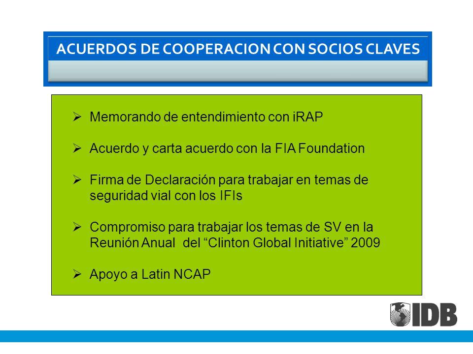 ACUERDOS DE COOPERACION CON SOCIOS CLAVES