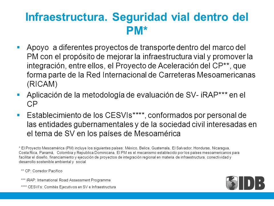 Infraestructura. Seguridad vial dentro del PM*