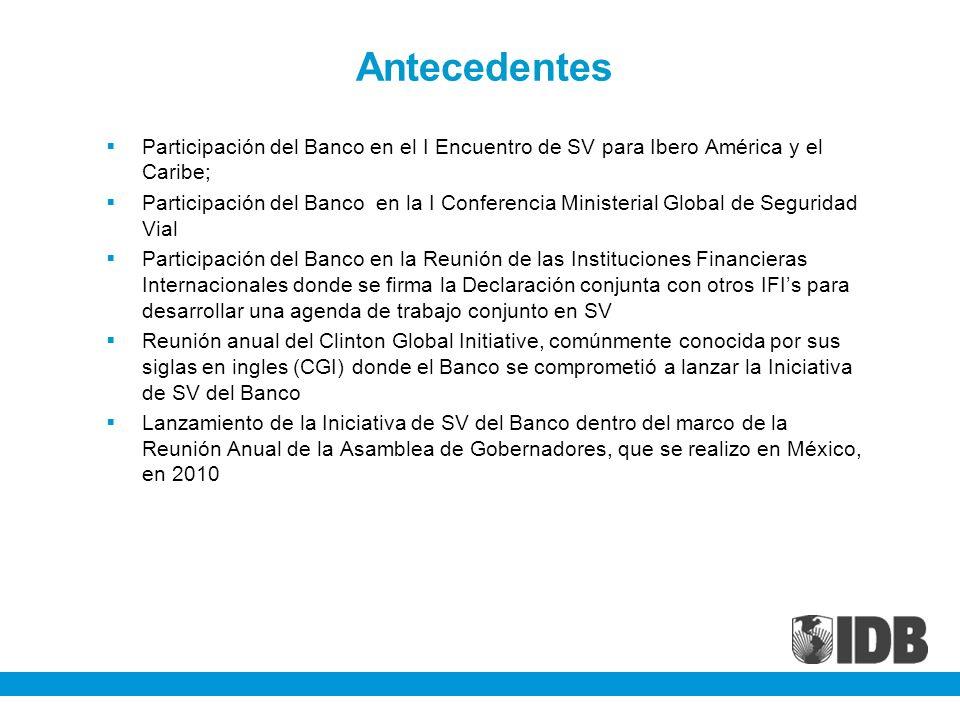 Antecedentes Participación del Banco en el I Encuentro de SV para Ibero América y el Caribe;