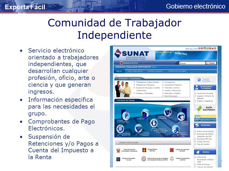 Comunidad de Trabajador Independiente