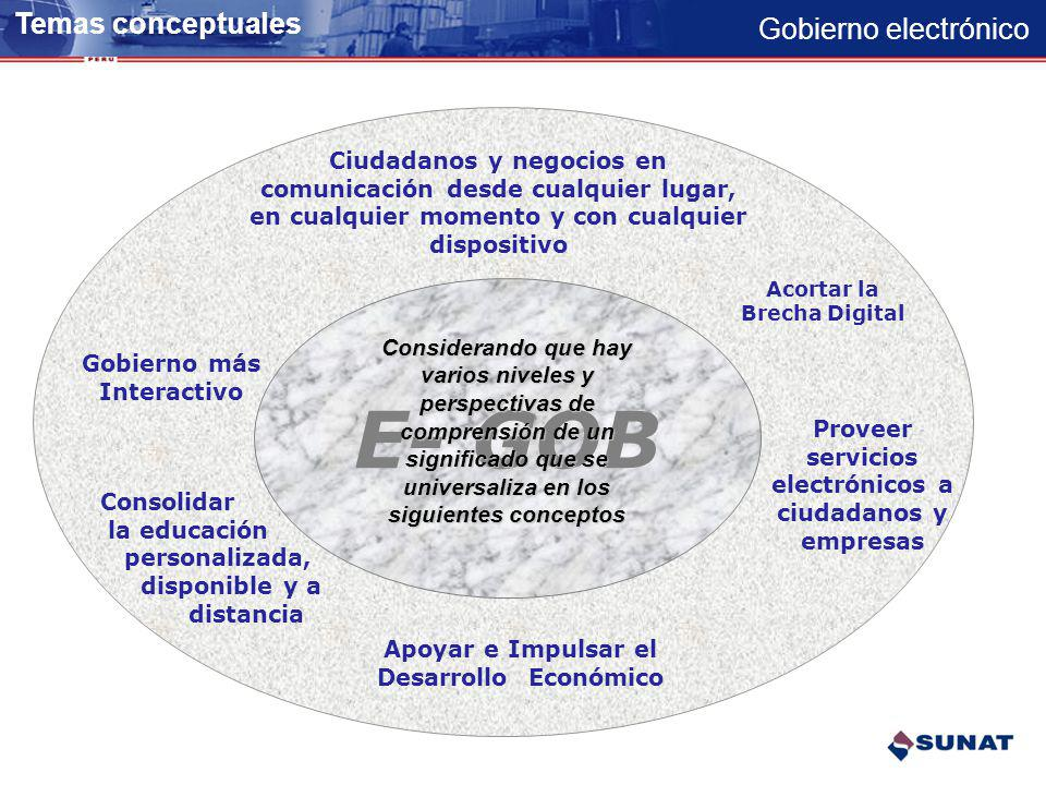 E- GOB Temas conceptuales