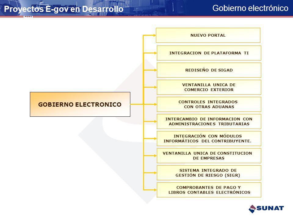 Proyectos E-gov en Desarrollo