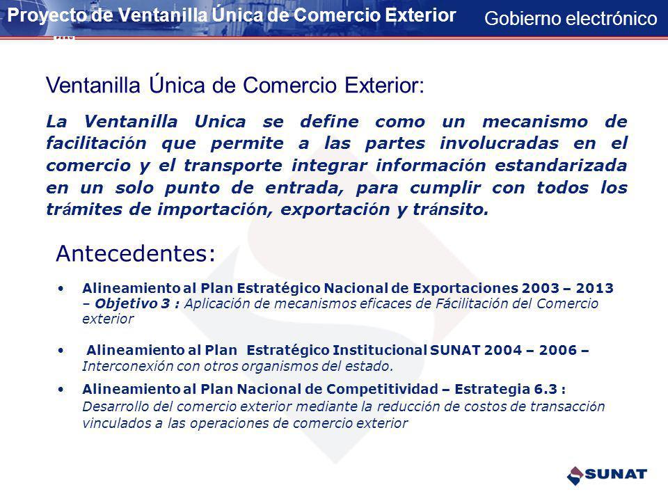 Proyecto de Ventanilla Única de Comercio Exterior