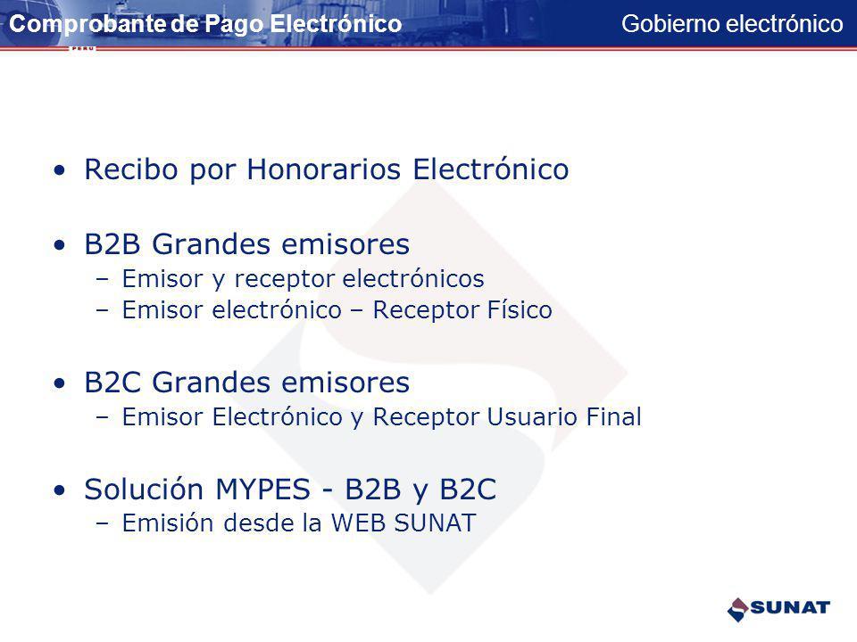 Recibo por Honorarios Electrónico B2B Grandes emisores