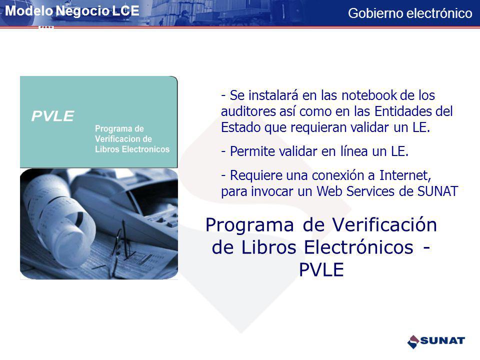 Programa de Verificación de Libros Electrónicos - PVLE