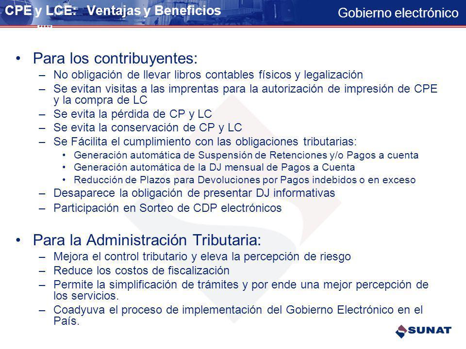 CPE y LCE: Ventajas y Beneficios