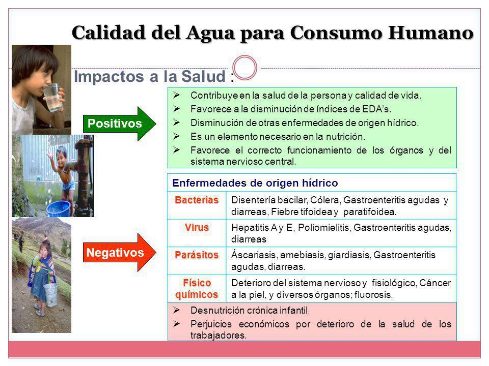 Calidad del Agua para Consumo Humano