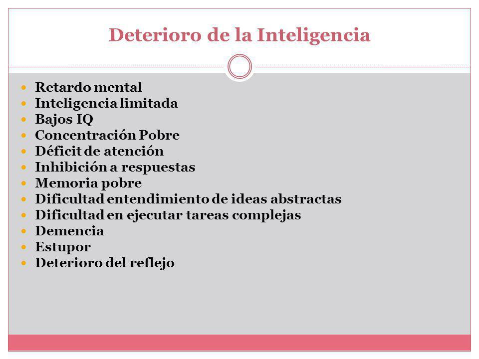 Deterioro de la Inteligencia