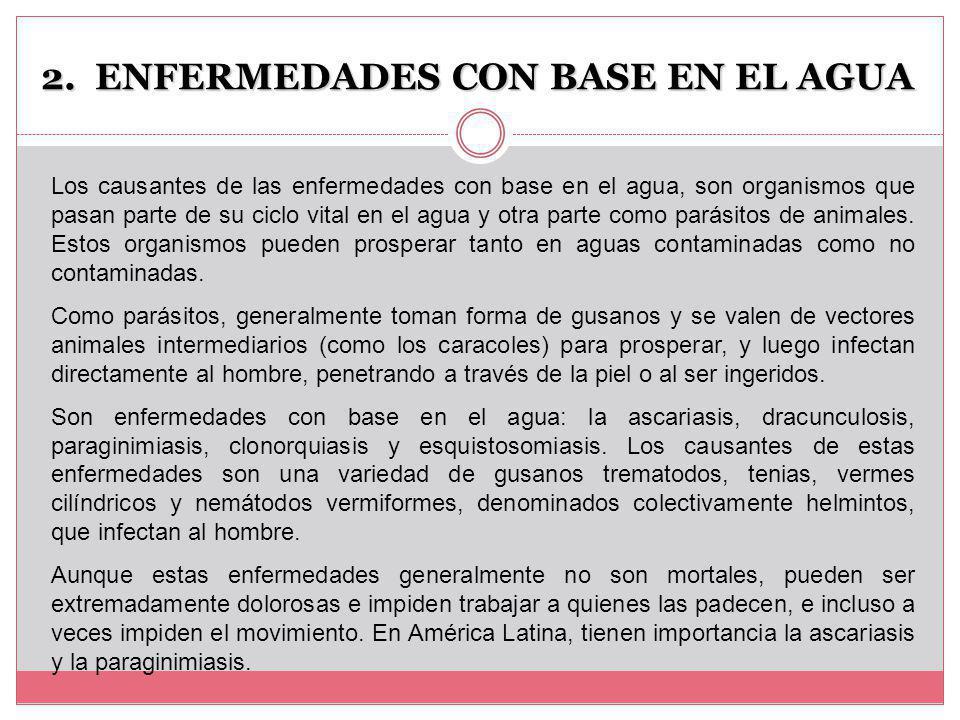ENFERMEDADES CON BASE EN EL AGUA