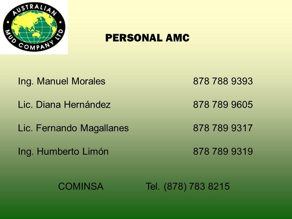 PERSONAL AMC Ing. Manuel Morales 878 788 9393