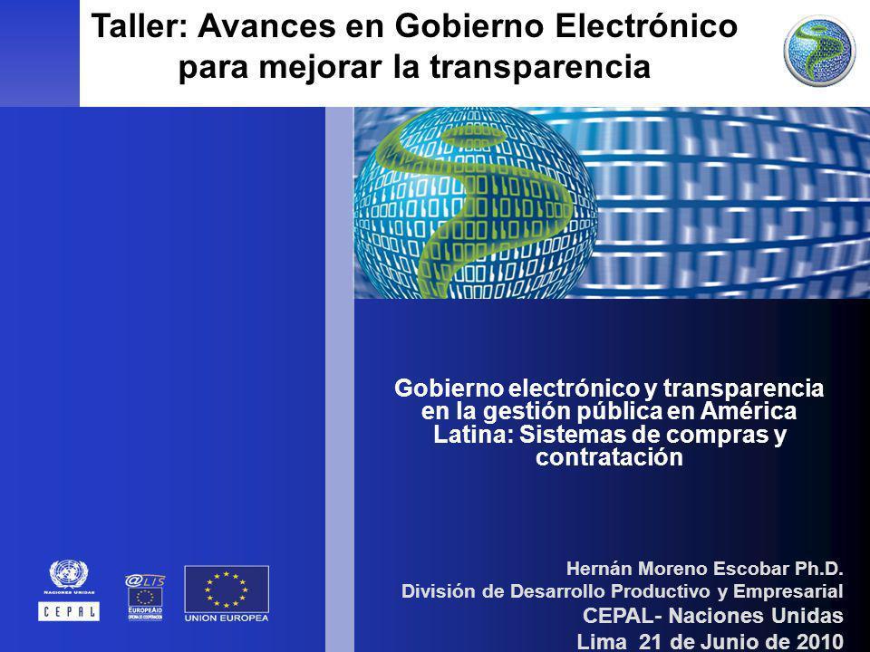 Taller: Avances en Gobierno Electrónico para mejorar la transparencia