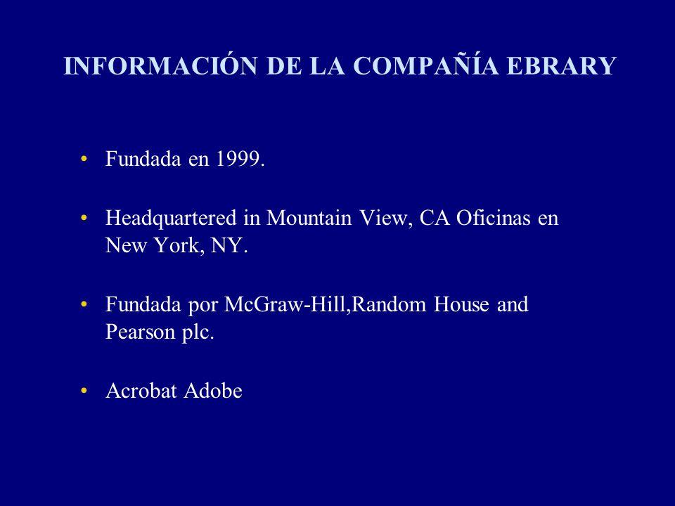 INFORMACIÓN DE LA COMPAÑÍA EBRARY