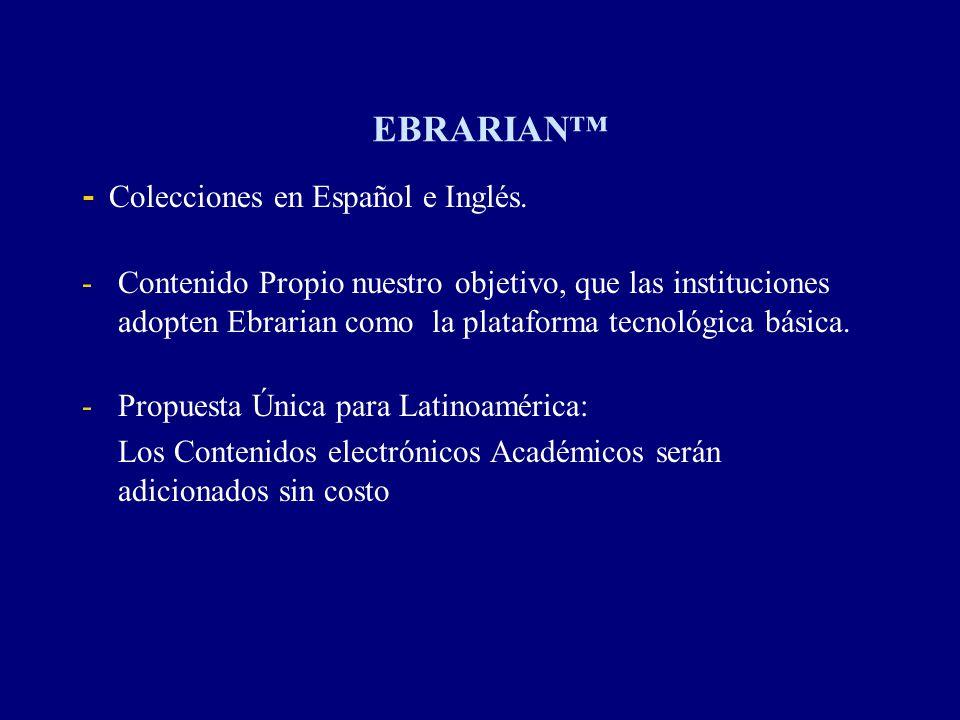 EBRARIAN™ - Colecciones en Español e Inglés.