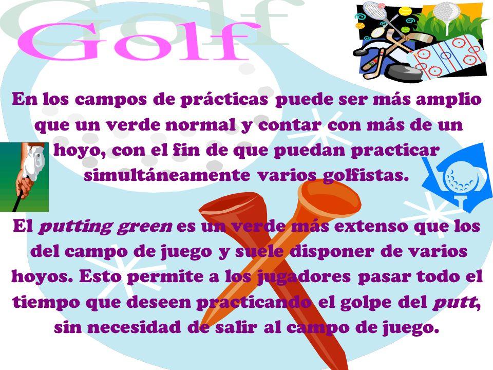 Golf En los campos de prácticas puede ser más amplio