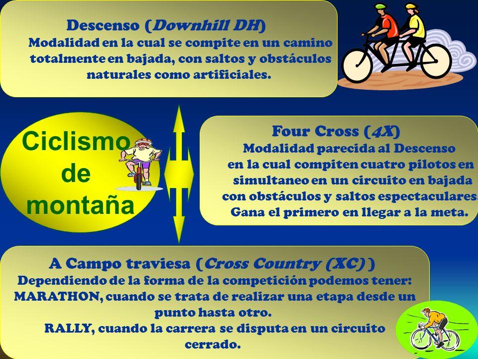 Ciclismo de montaña Descenso (Downhill DH) Four Cross (4X)