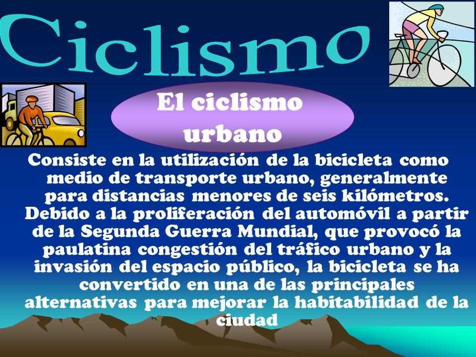El ciclismo urbano Ciclismo