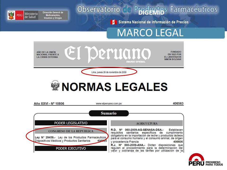 DIGEMID MARCO LEGAL