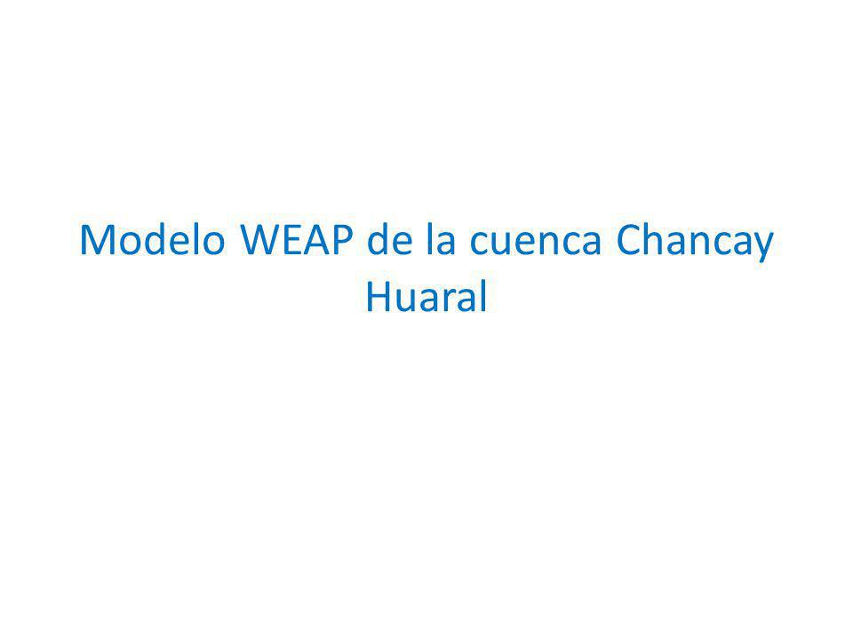 Modelo WEAP de la cuenca Chancay Huaral