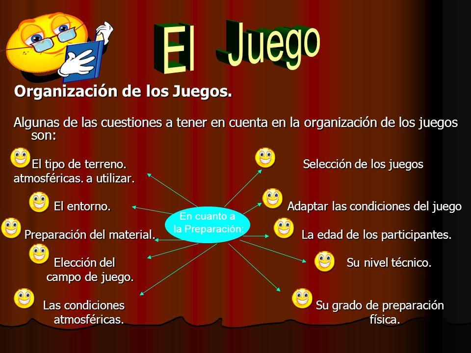 Organización de los Juegos.