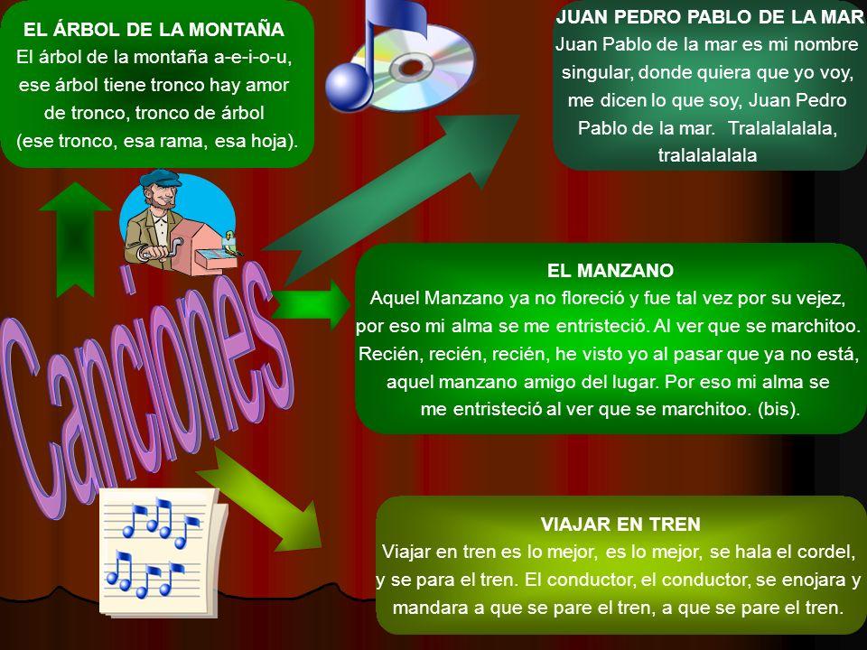 Canciones JUAN PEDRO PABLO DE LA MAR EL ÁRBOL DE LA MONTAÑA