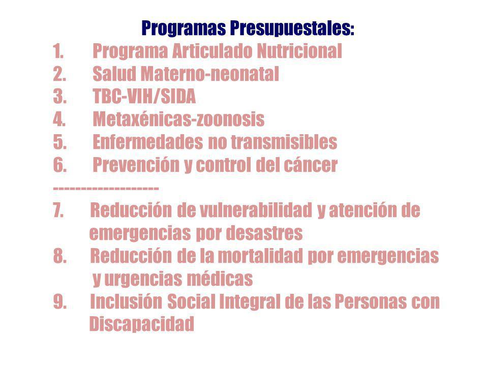 Programas Presupuestales: