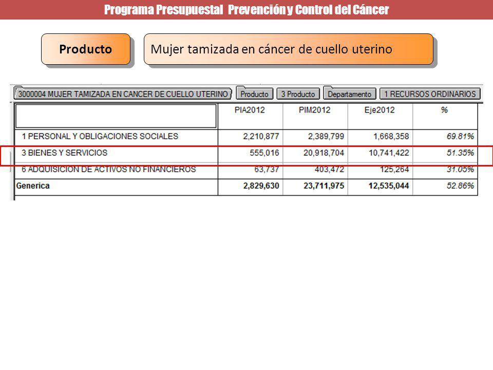 Programa Presupuestal Prevención y Control del Cáncer