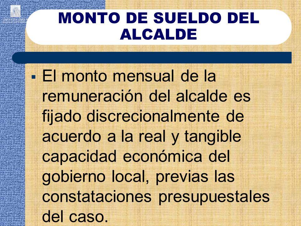 MONTO DE SUELDO DEL ALCALDE