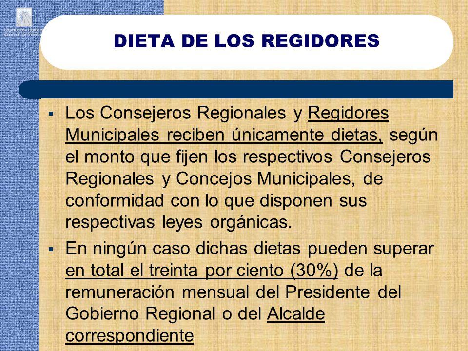 DIETA DE LOS REGIDORES