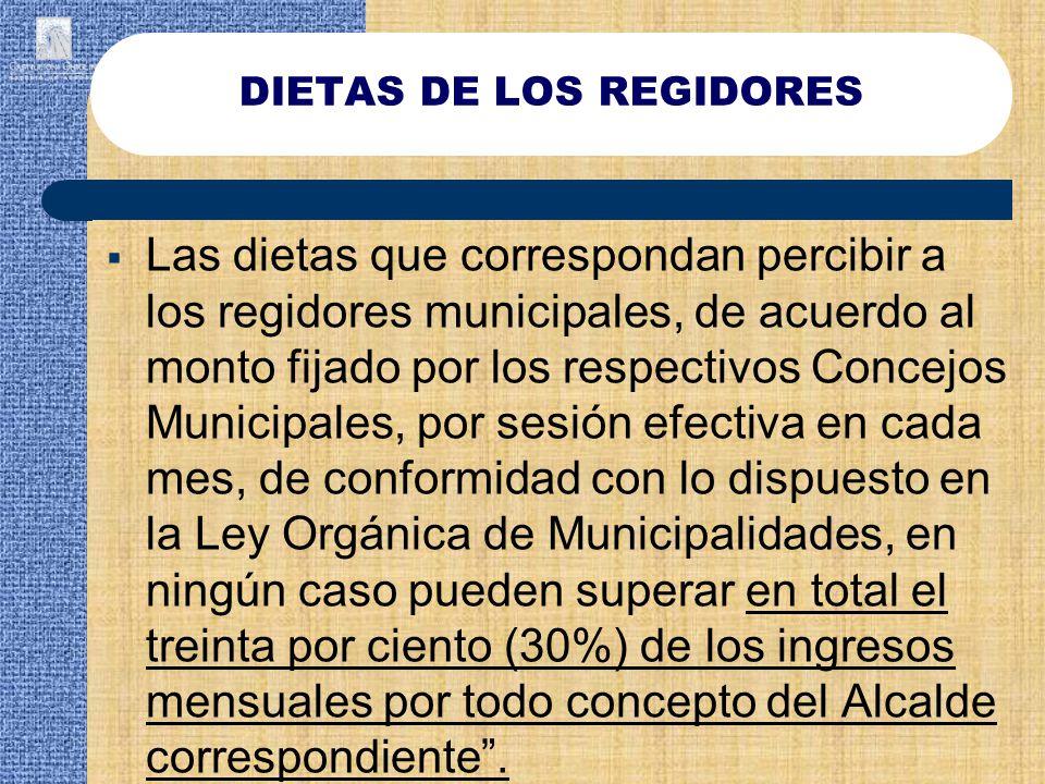DIETAS DE LOS REGIDORES
