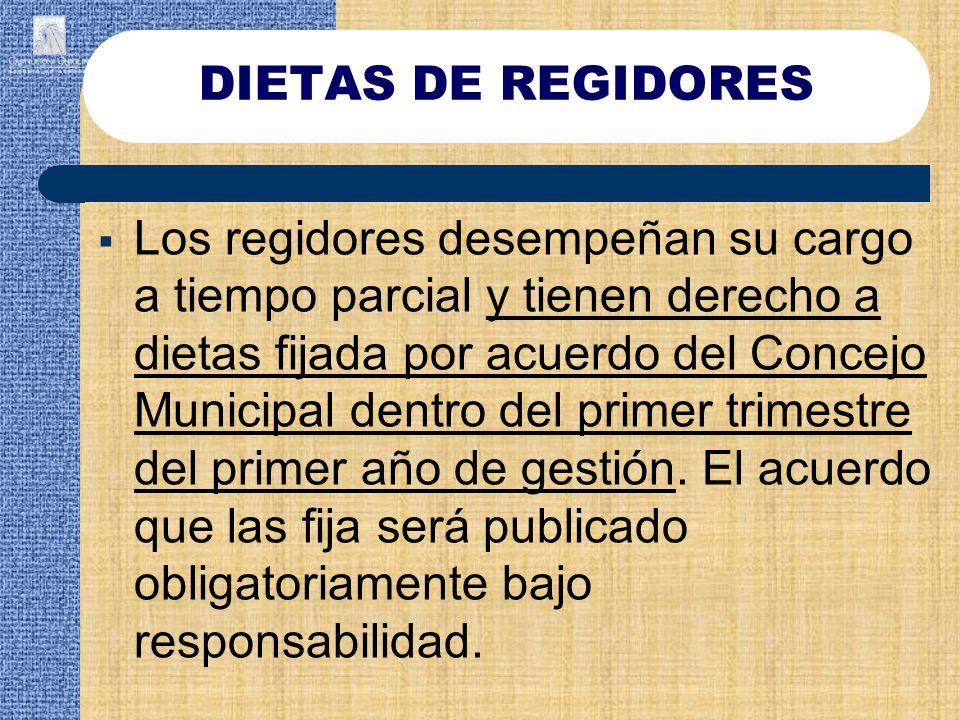 DIETAS DE REGIDORES
