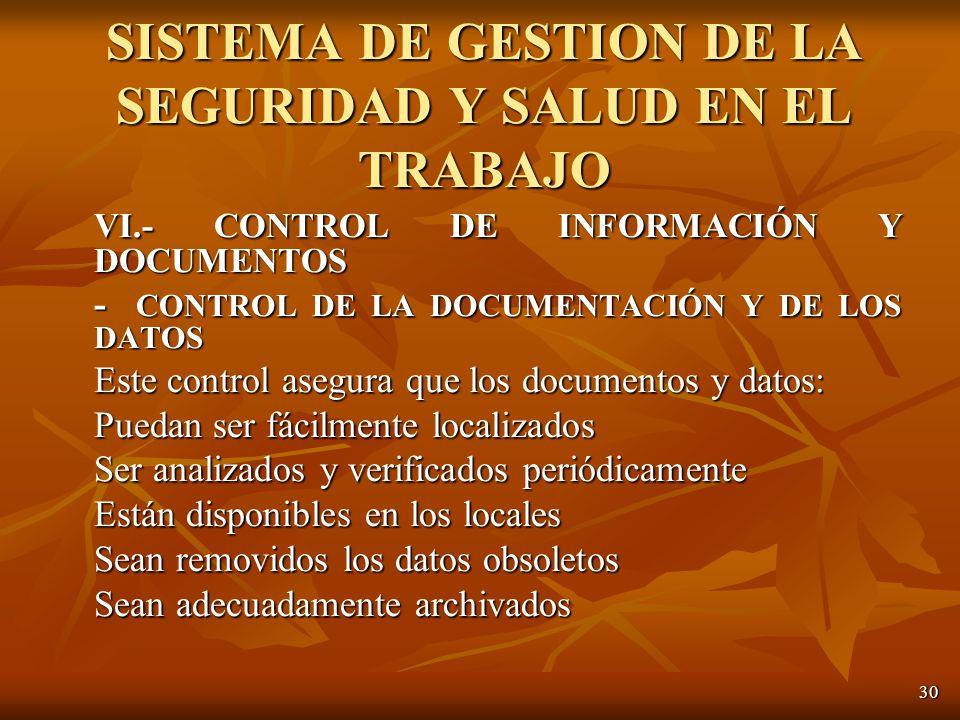 SISTEMA DE GESTION DE LA SEGURIDAD Y SALUD EN EL TRABAJO