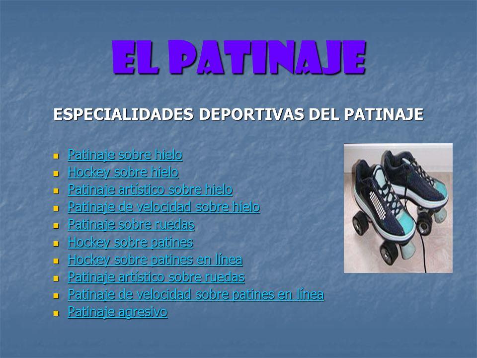 ESPECIALIDADES DEPORTIVAS DEL PATINAJE