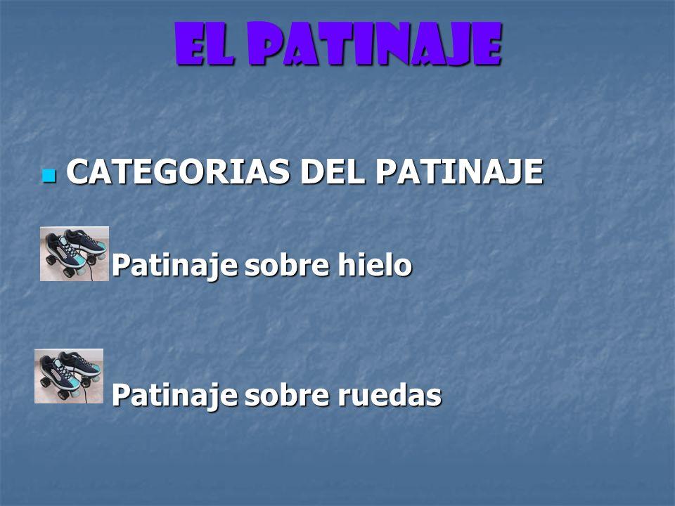El PATINAJE CATEGORIAS DEL PATINAJE Patinaje sobre hielo