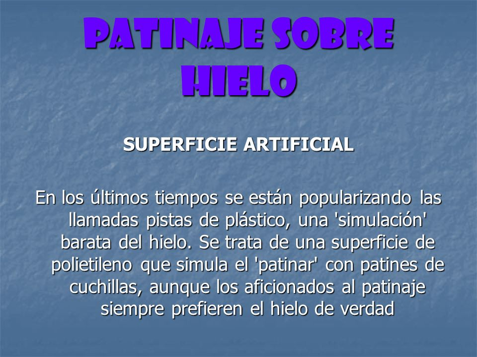 SUPERFICIE ARTIFICIAL