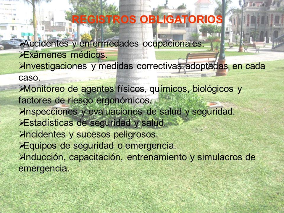 REGISTROS OBLIGATORIOS