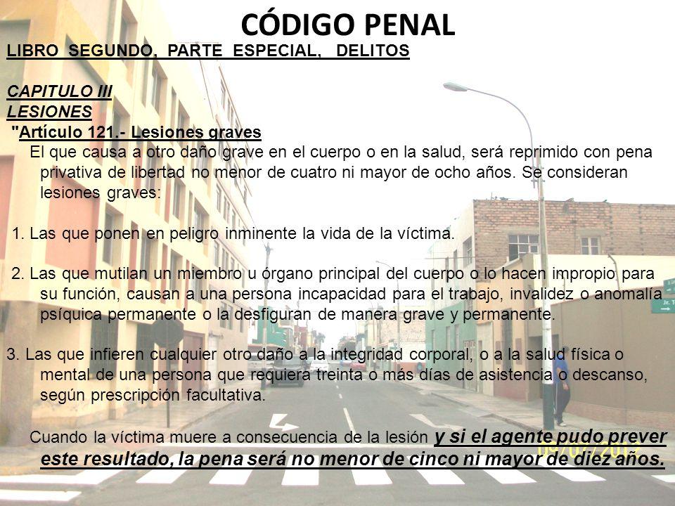 CÓDIGO PENAL LIBRO SEGUNDO, PARTE ESPECIAL, DELITOS CAPITULO III