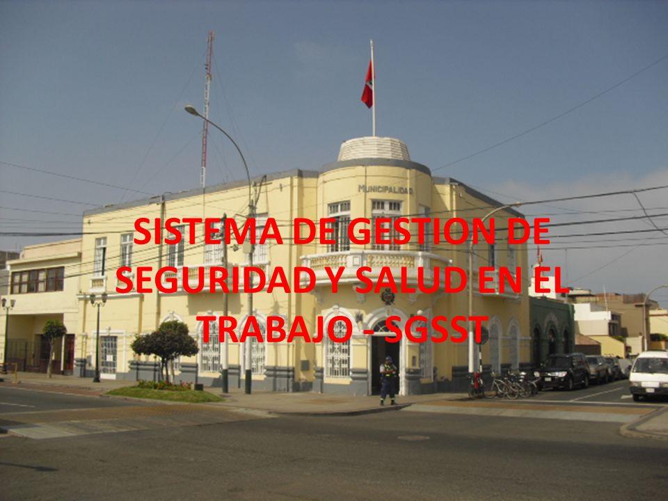 SISTEMA DE GESTION DE SEGURIDAD Y SALUD EN EL TRABAJO - SGSST