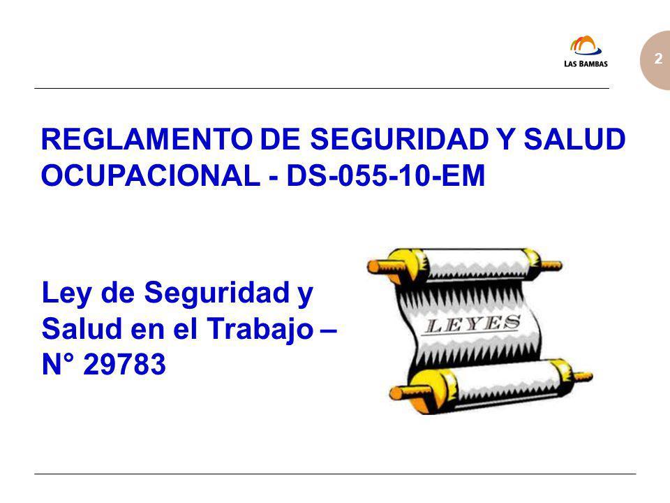 REGLAMENTO DE SEGURIDAD Y SALUD OCUPACIONAL - DS-055-10-EM