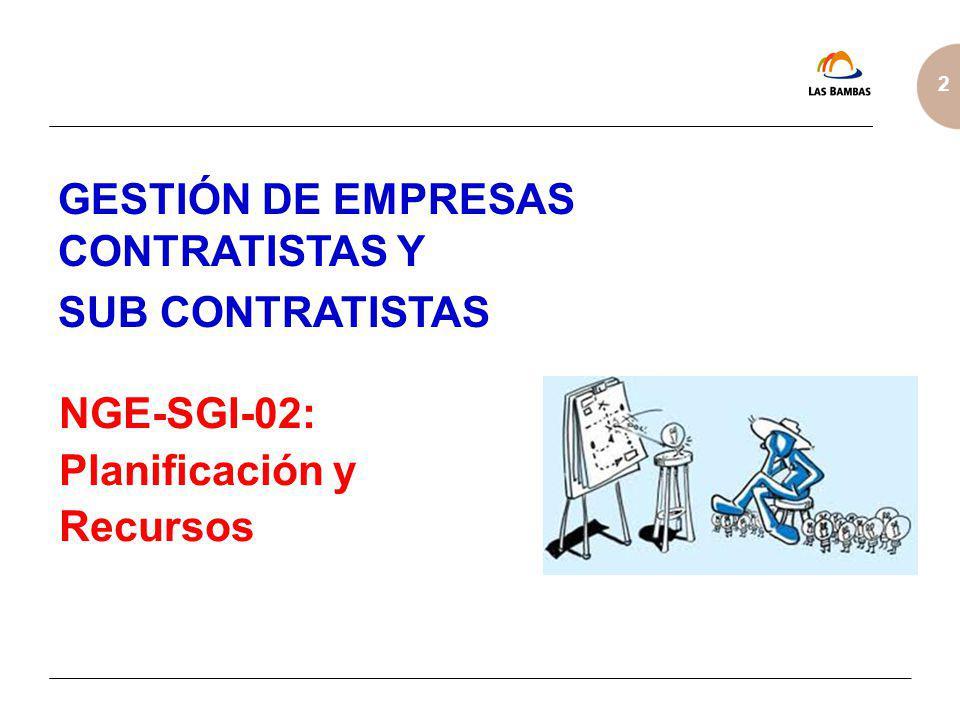 GESTIÓN DE EMPRESAS CONTRATISTAS Y SUB CONTRATISTAS