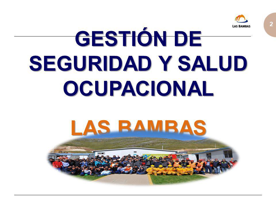 GESTIÓN DE SEGURIDAD Y SALUD OCUPACIONAL LAS BAMBAS