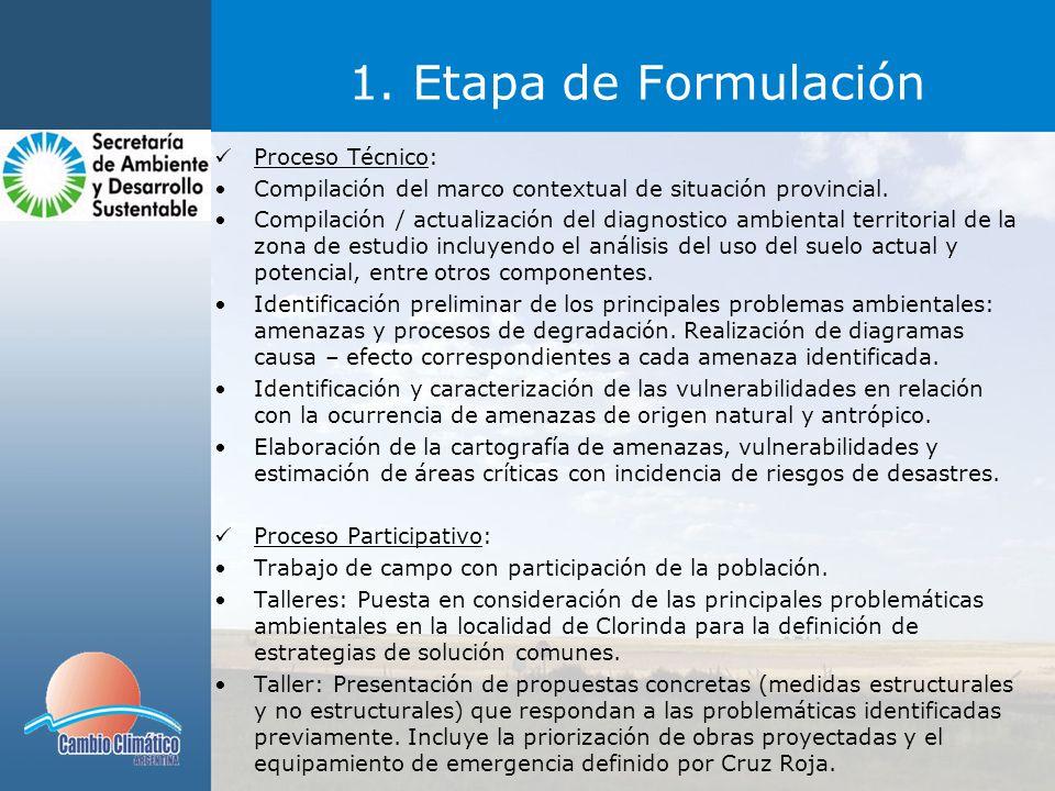 1. Etapa de Formulación Proceso Técnico: