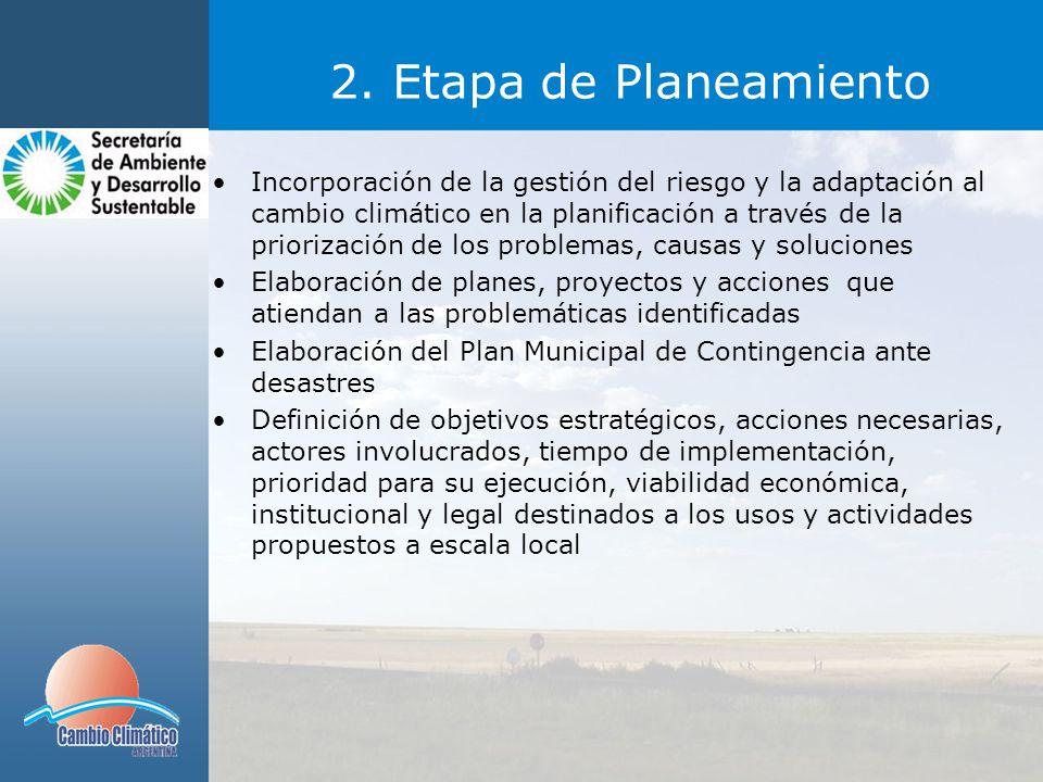 2. Etapa de Planeamiento